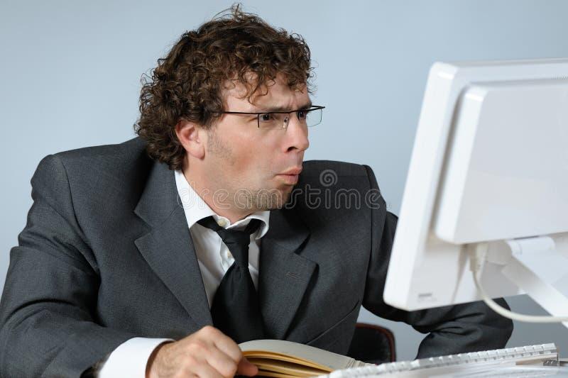 Homme d'affaires étonné images stock