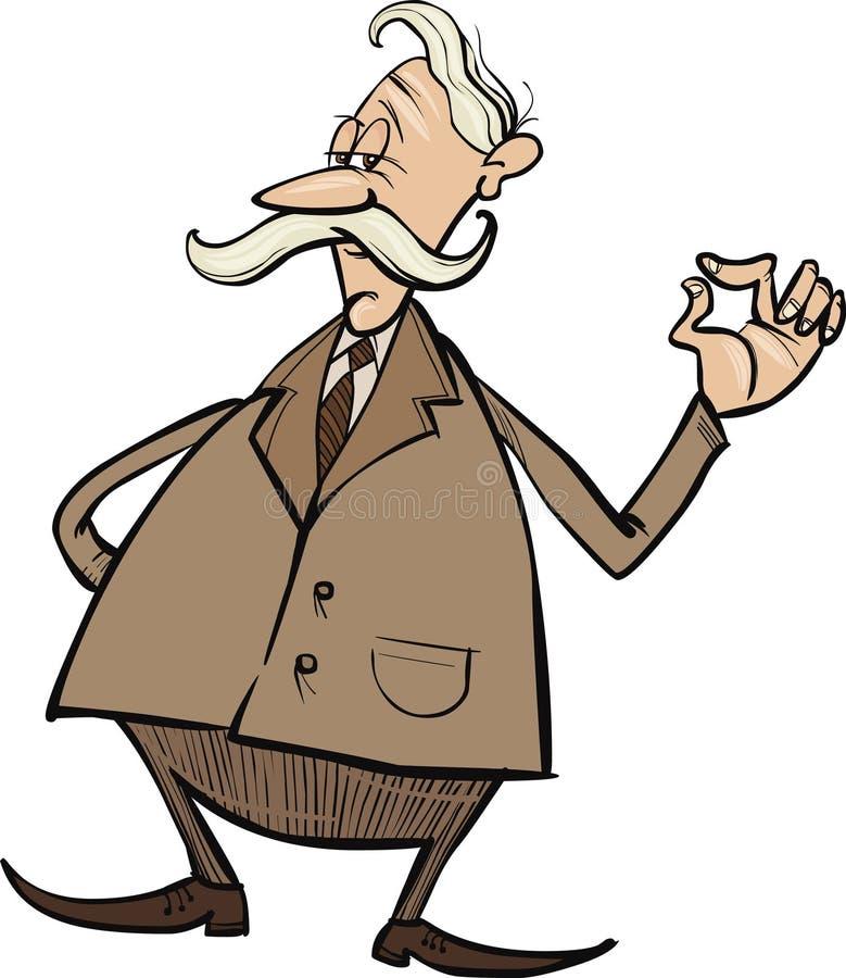 Homme d'affaires aîné illustration libre de droits
