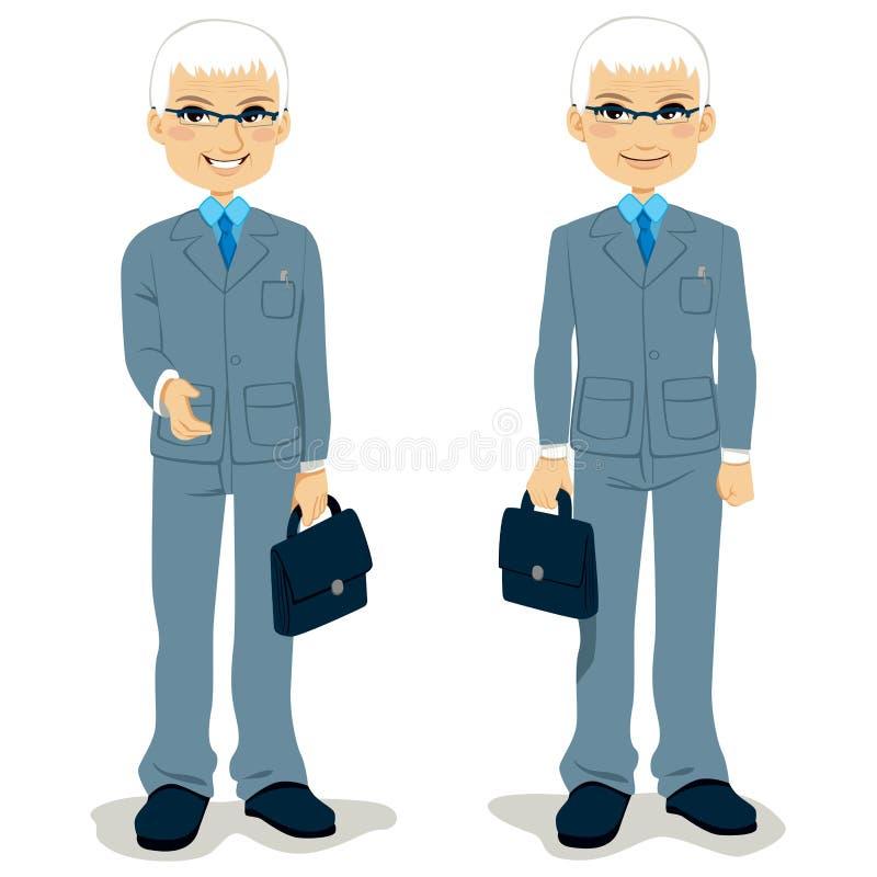 Homme d'affaires aîné illustration stock