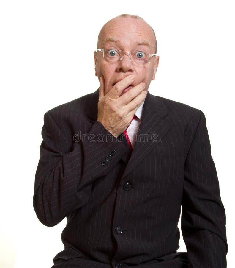 Homme d'affaires aîné expressif photo libre de droits