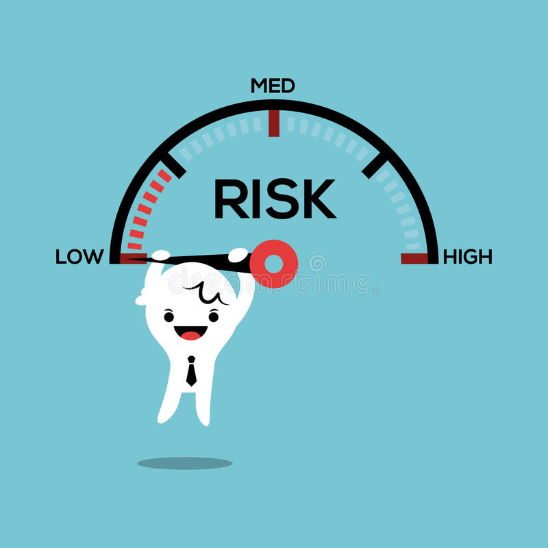 Homme d'affaires accrochant sur le conce de gestion des risques de mesure de vitesse d'aiguille illustration libre de droits