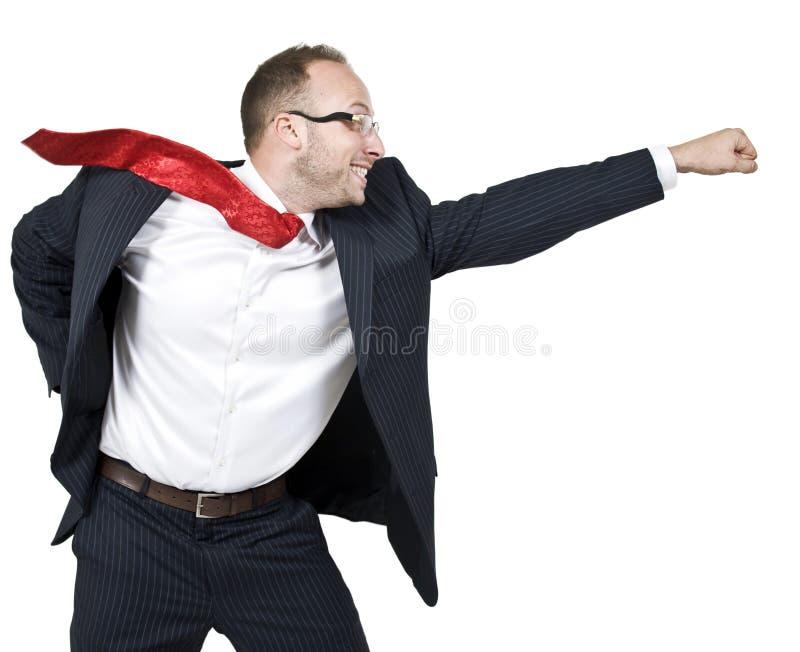 Homme d'affaires activé images stock