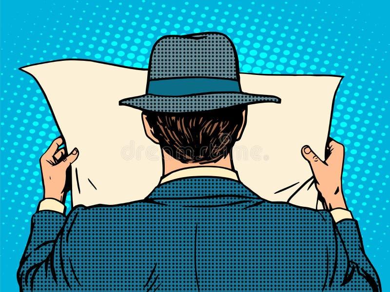 Homme d'affaires affichant un journal illustration libre de droits
