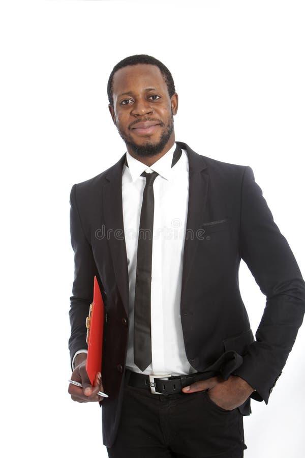 Homme d'affaires africain sûr réussi photo stock