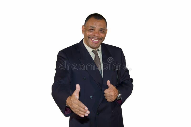 Homme d'affaires afro-américain aîné de sourire photographie stock libre de droits