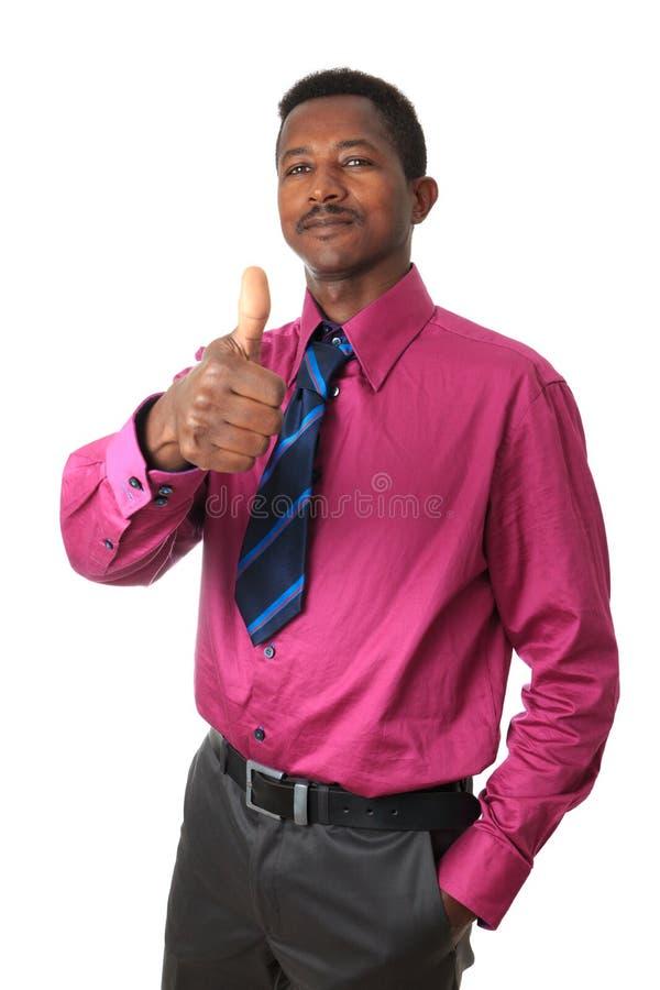 Homme d'affaires afro-américain d'isolement photo libre de droits