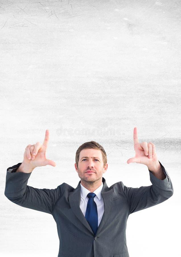 Homme d'affaires agissant l'un sur l'autre avec de l'air image libre de droits