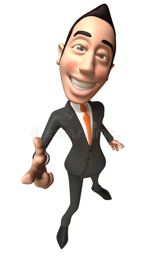 Homme d'affaires asiatique illustration stock