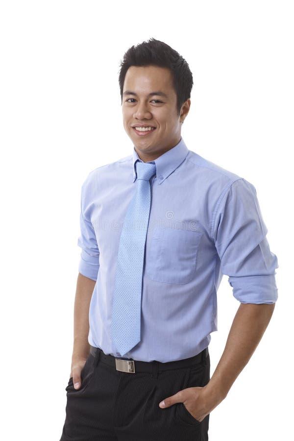 Homme d'affaires asiatique bel images stock