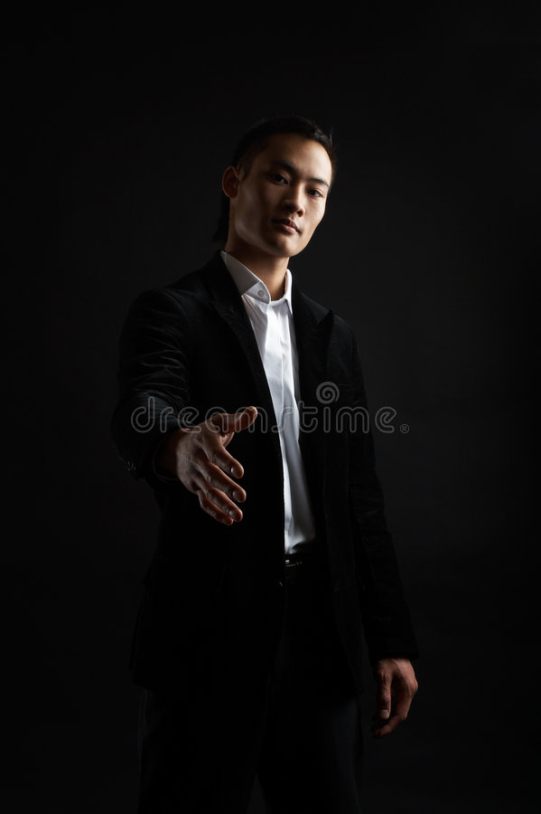 Homme d'affaires asiatique dur images libres de droits