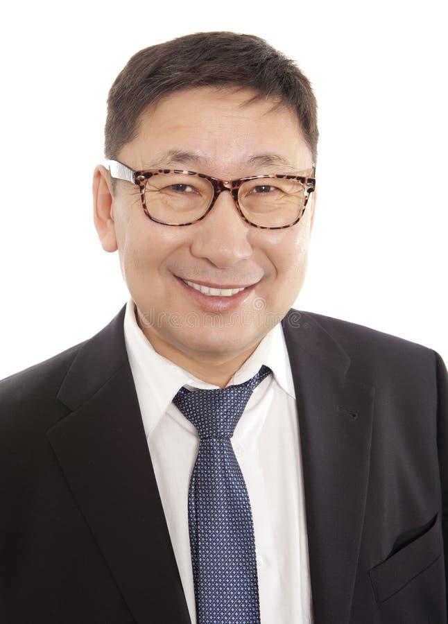 Homme d'affaires asiatique heureux images libres de droits