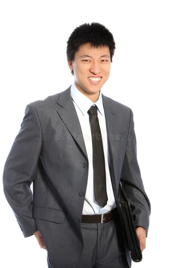 Homme d'affaires asiatique relaxed sûr photographie stock