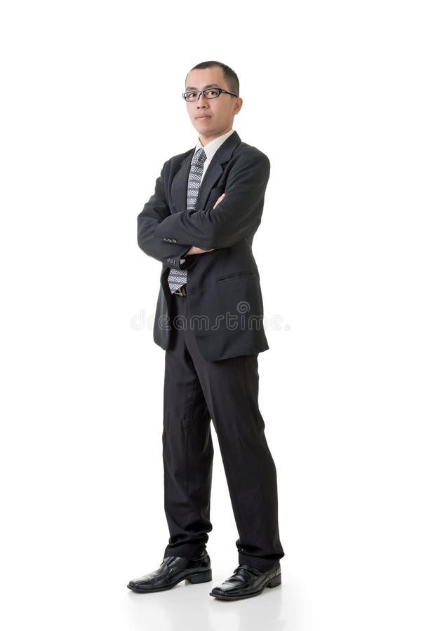 Homme d'affaires asiatique sûr photographie stock