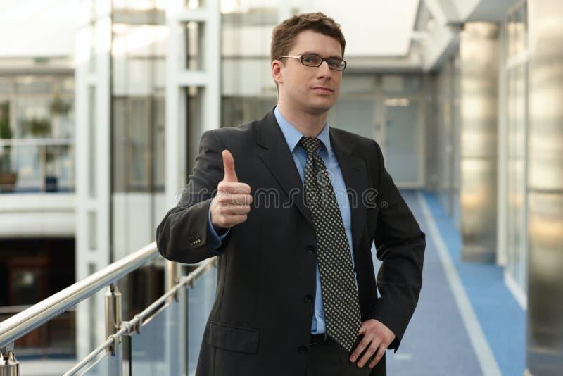 Homme d'affaires attirant avec l'OK images libres de droits