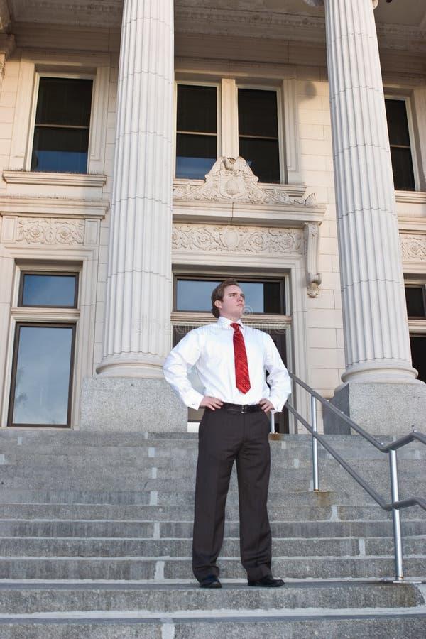 Homme d'affaires au tribunal photographie stock