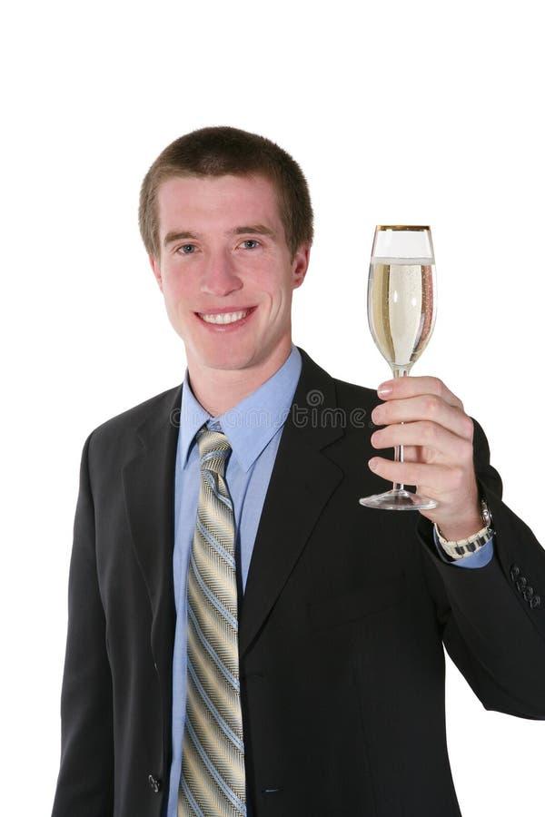 Homme d'affaires avec Champagne photo libre de droits