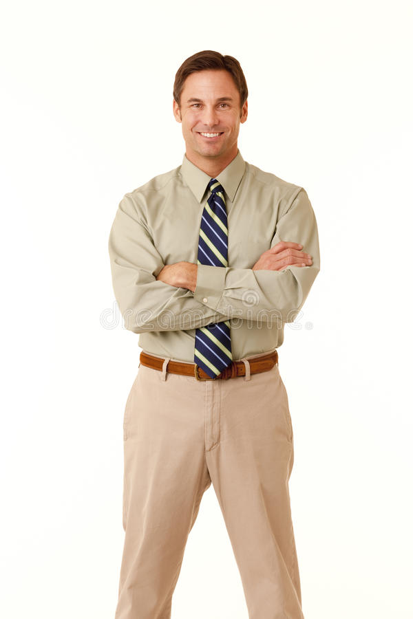Homme d'affaires avec des bras croisés photos stock