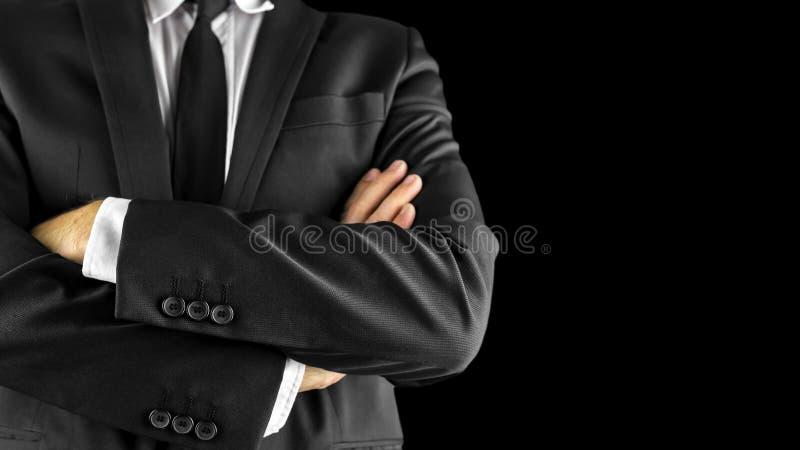 Homme d'affaires avec des bras croisés photo libre de droits