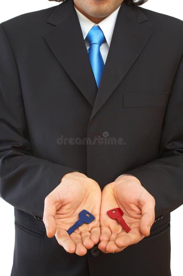 Homme d'affaires avec des clés photo libre de droits
