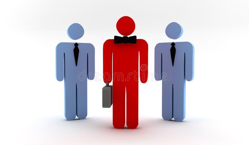 Homme d'affaires avec des collaborateurs illustration de vecteur