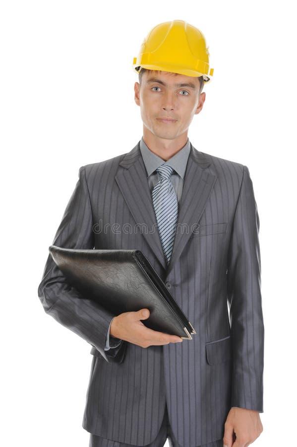 Homme d'affaires avec des documents image stock