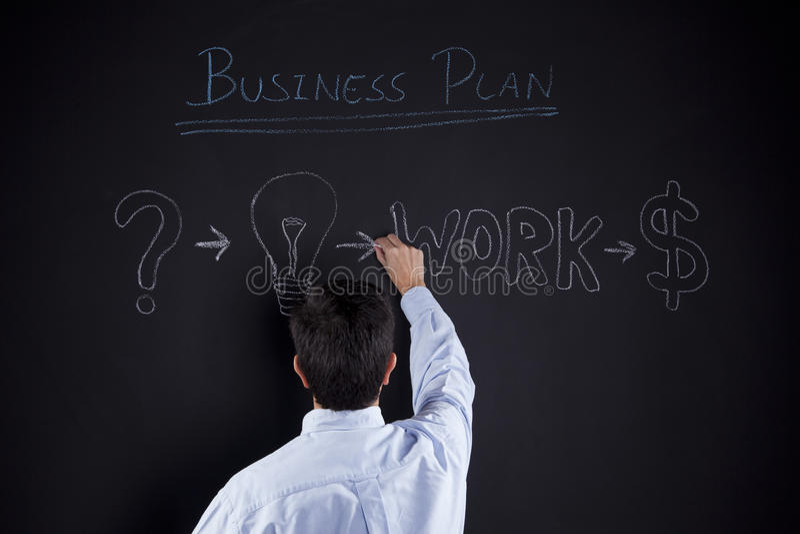 Homme d'affaires avec des idées pour le succès photo libre de droits