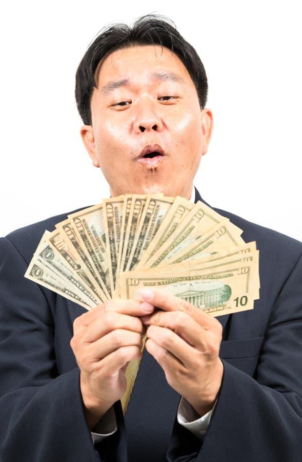Homme d'affaires avec l'argent images stock