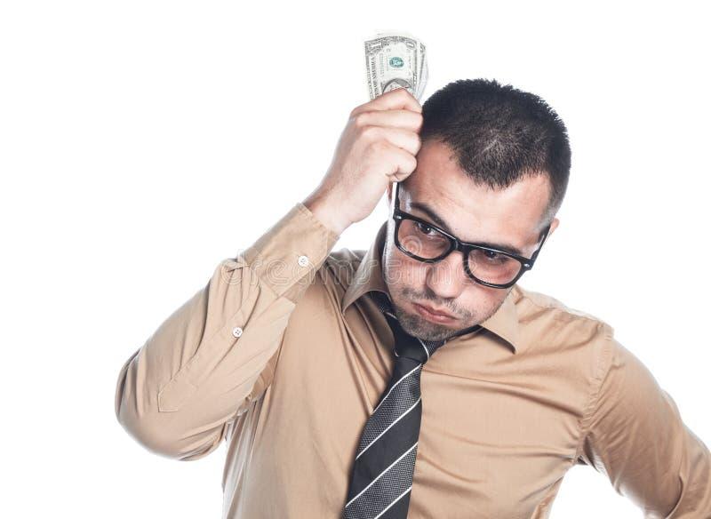 Homme d'affaires avec l'argent photo stock