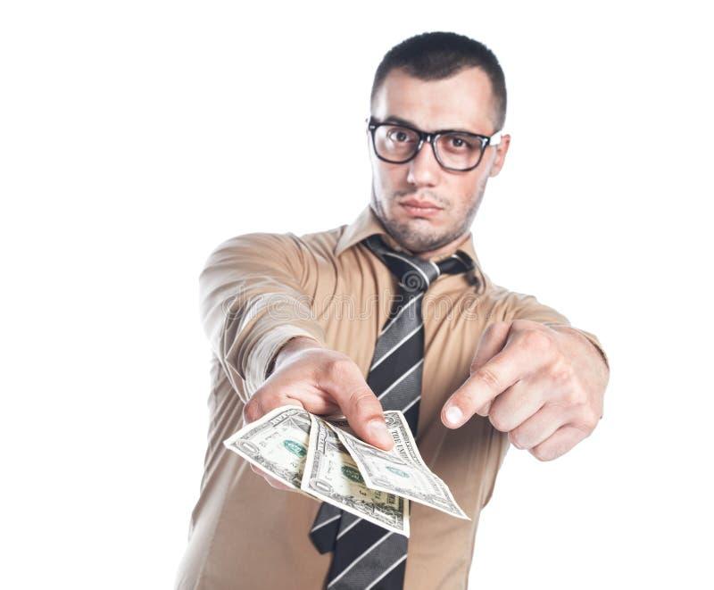 Homme d'affaires avec l'argent photographie stock