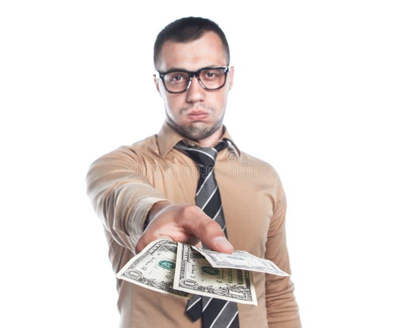 Homme d'affaires avec l'argent image libre de droits