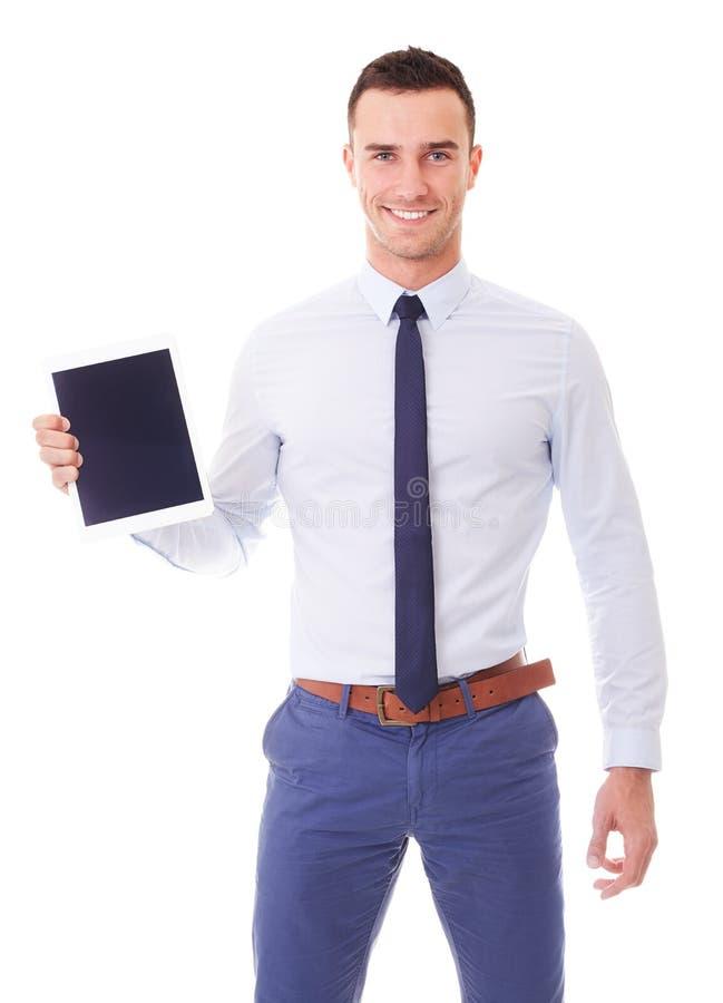Homme d'affaires avec l'ordinateur de tablette photo libre de droits