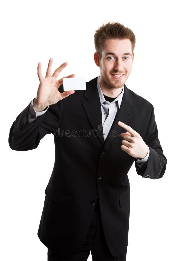 Homme d'affaires avec la carte de visite professionnelle de visite image libre de droits