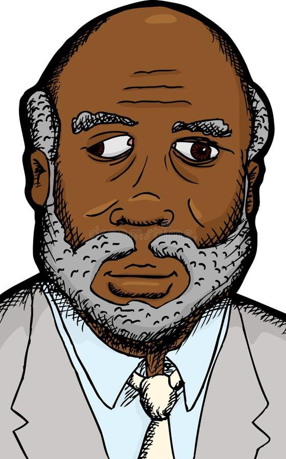 Homme d'affaires avec la défectuosité d'oeil illustration de vecteur