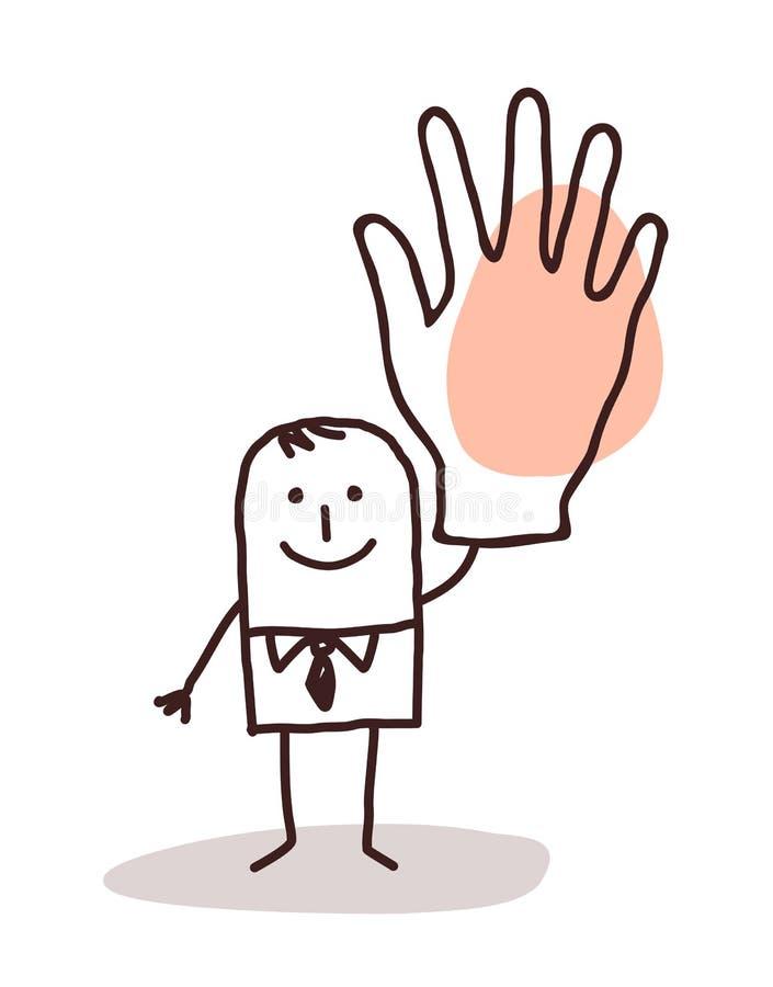 Homme d'affaires avec la grande main  illustration libre de droits