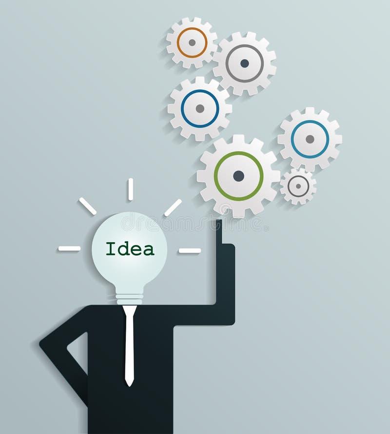 Homme d'affaires avec la nouvelle idée créative d'affaires illustration stock