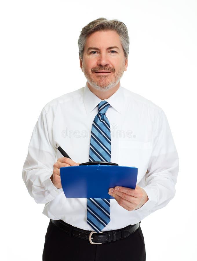 Homme d'affaires avec la planchette images libres de droits