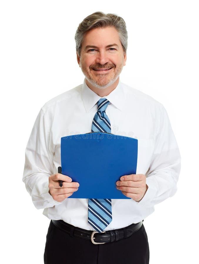 Homme d'affaires avec la planchette photo libre de droits