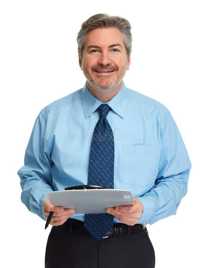 Homme d'affaires avec la planchette image stock