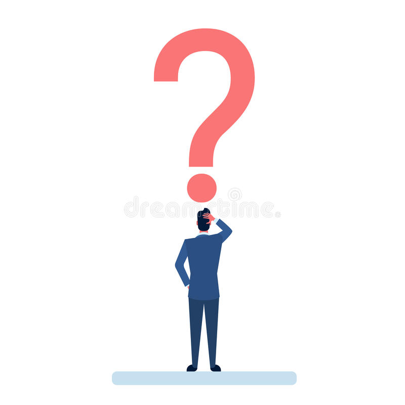 Download Homme D'affaires Avec La Question Mark Pondering Problem Concept Illustration de Vecteur - Illustration du aide, tête: 77156788