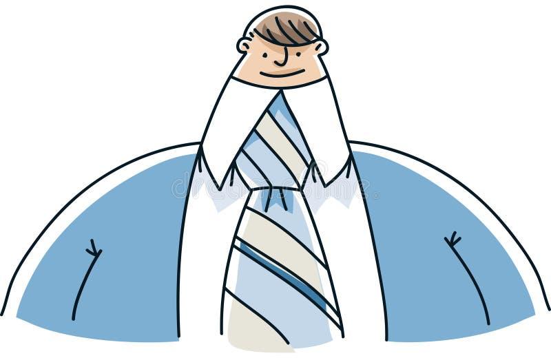 Homme d'affaires avec la tête minuscule illustration libre de droits