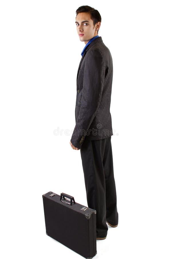 Homme d'affaires avec la valise photographie stock libre de droits