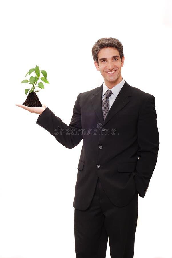 Homme d'affaires avec la visibilité images stock