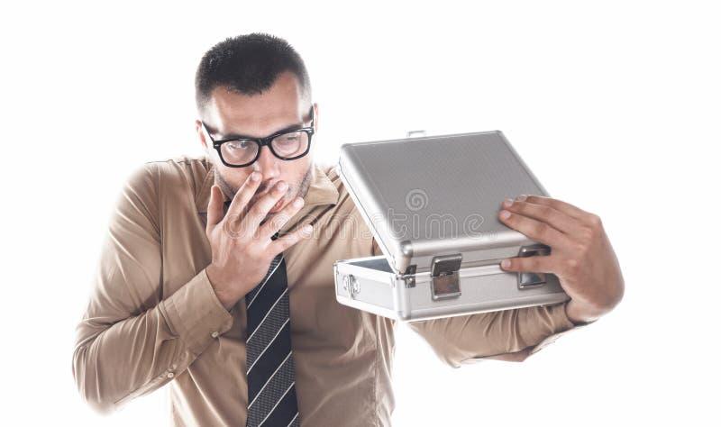 Homme d'affaires avec le cas protecteur photo libre de droits