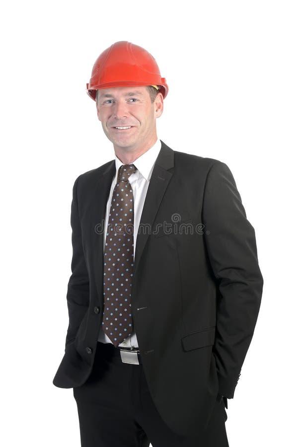 Homme d'affaires avec le casque photo libre de droits