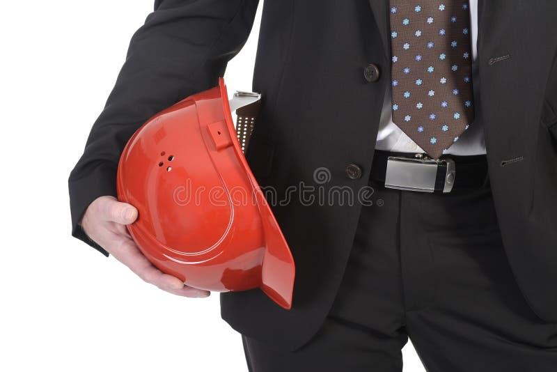 Homme d'affaires avec le casque photos stock