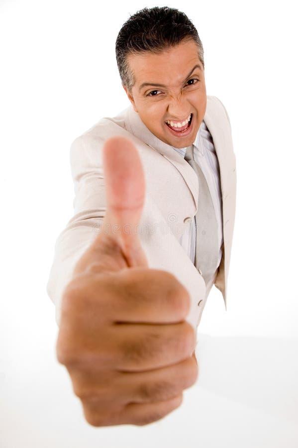 Homme d'affaires avec le pouce vers le haut photos libres de droits