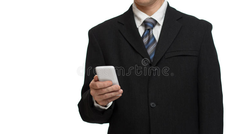 Homme d'affaires avec le smartphone image stock