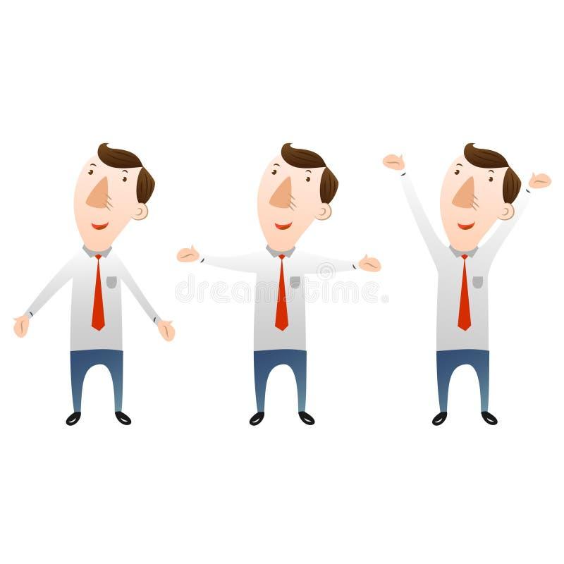 Homme d'affaires avec les bras ouverts illustration stock