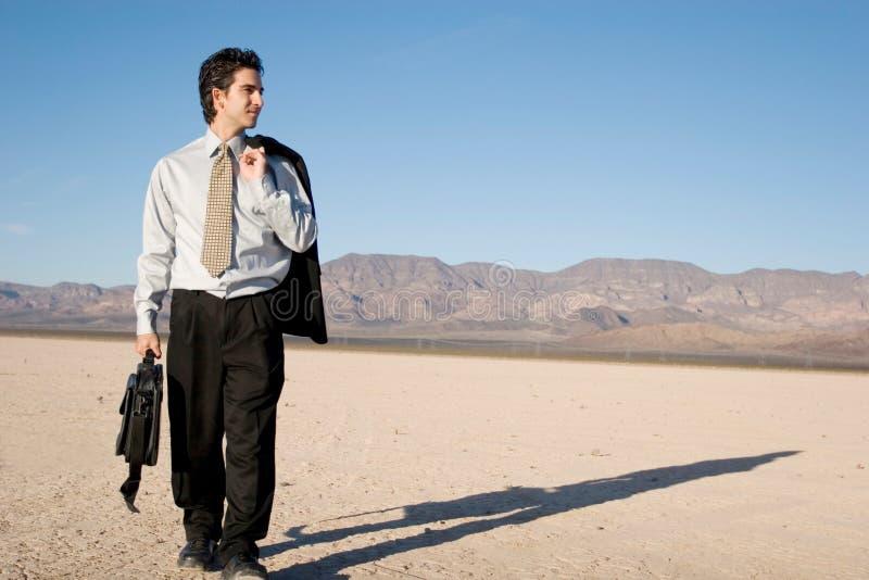 Homme D Affaires Avec Son Ordinateur Portatif Image libre de droits