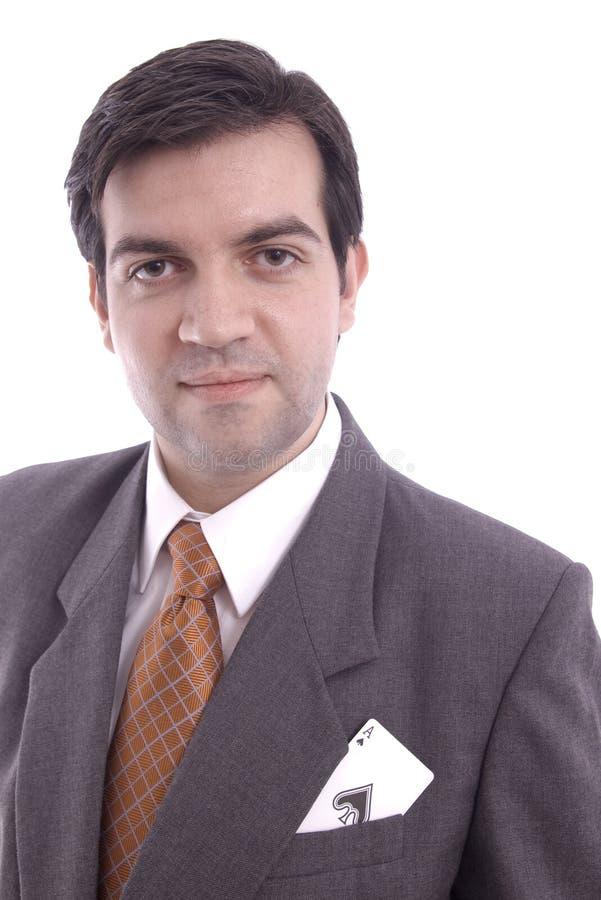 Homme d'affaires avec un as image libre de droits